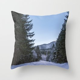 Side Road Throw Pillow