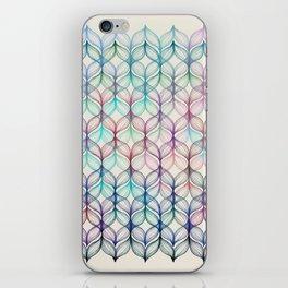 Mermaid's Braids - a colored pencil pattern iPhone Skin