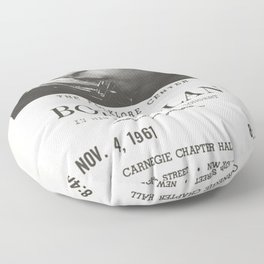 Vintage 1961 Bob Dylan Carnegie Hall Folk Festival Concert Gig Poster Floor Pillow