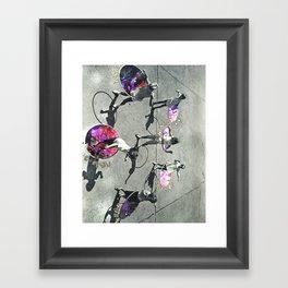 Hulla Hoop Galaxy Framed Art Print