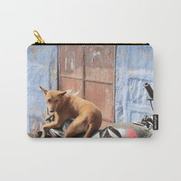 Dog on a Motorcycle Carry-All Pouch