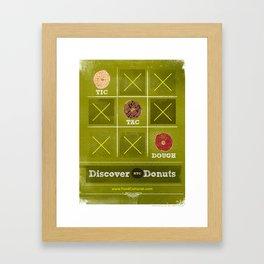 Tic, Tac, Dough Framed Art Print