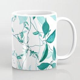 fresh green leaf pattern Coffee Mug