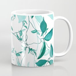 fresh green leaf pattern Coffee Mug