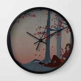 Happy Autumn Nap Wall Clock