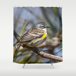Yellow Rumped Warbler in May Shower Curtain