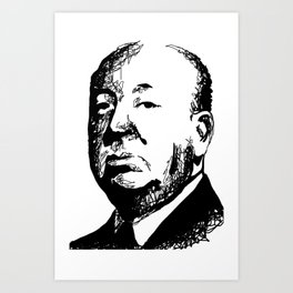 Alfred Hitchcock by burro Art Print