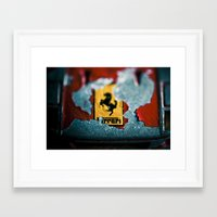 ferrari Framed Art Prints featuring Ferrari by Jean-François Dupuis