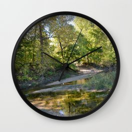 Where Canoes and Raccoons Go Series, No. 22 Wall Clock