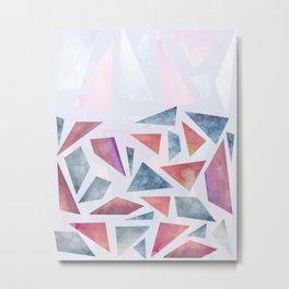Geometric watercolor pattern Metal Print