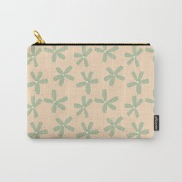 Green & Pink Floral Carry-All Pouch
