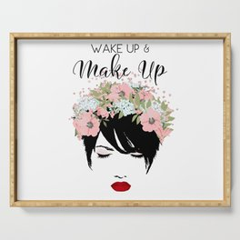 Wake Up and Make Up Glamour Serving Tray