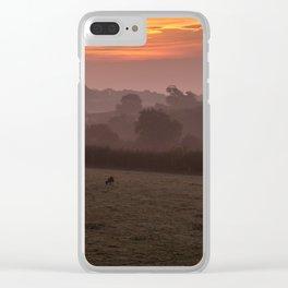 Misty Morning Sunrise Clear iPhone Case