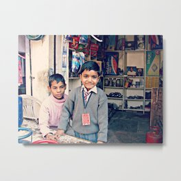 Cute Indian Child  Metal Print