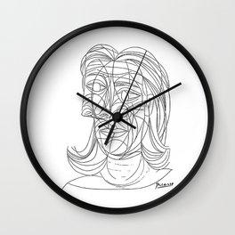 Pablo Picasso Tete de Femme 1939 (Head Of A Woman) T Shirt Wall Clock