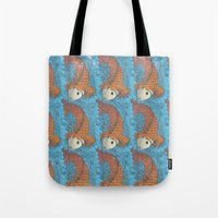 koi Tote Bags featuring KOI by Matthew Taylor Wilson