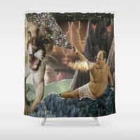 seinfeld Shower Curtains featuring CANTSTANDYA: THE WRATH OF GEORGE COSTANZA by Lauren Little