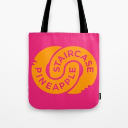 Pineapple Staircase  |  Official Logo in Pink/Orange Tote Bag