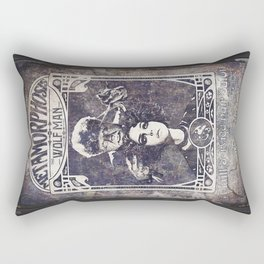 Metamorphosis by The Wolf Man: A Full Service Hair Salon (Old Metal Sign) Rectangular Pillow