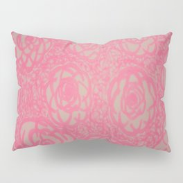 Hot Pink Rose Bed Print Pillow Sham