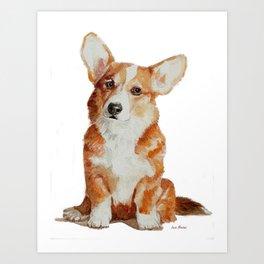 Cute Corgi puppy Art Print