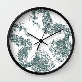 Study in Symmetry (No. 1) | Slate grey Wall Clock