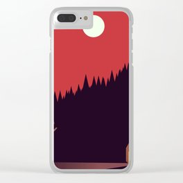 A Cabin in the Wood Clear iPhone Case