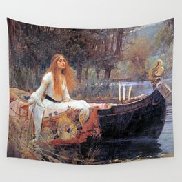 THE LADY OF SHALLOT - WATERHOUSE Wall Tapestry
