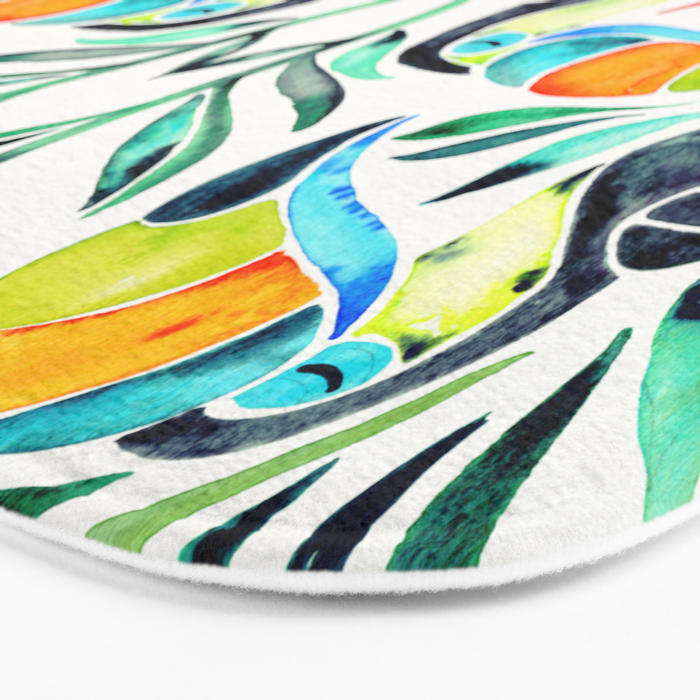 Tropical Toucans Bath Mat