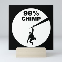 Chimps and humans share about 98 percent of their DNA Mini Art Print