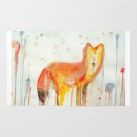 mr fox Area & Throw Rugs featuring Mr. Fox by Kacieeface Studio