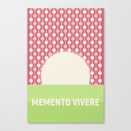 Memento Vivere Canvas Print