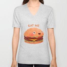 Burger Unisex V-Neck