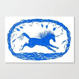 Blue Unicorn 02 Canvas Print