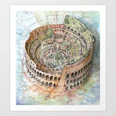 The Colosseo City Art Print