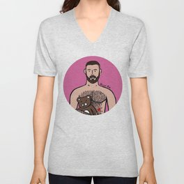 Beard Boy: Dani Bear Unisex V-Neck