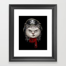PIRATECAT Framed Art Print
