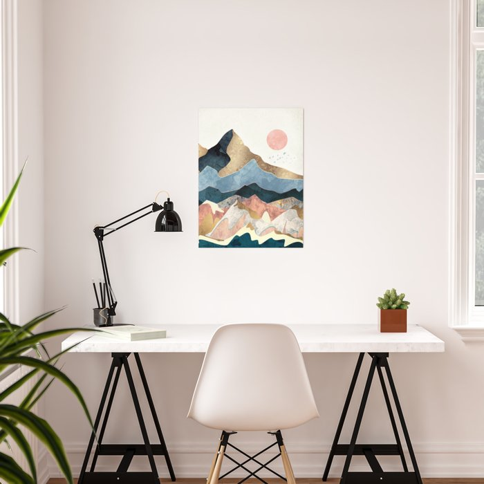 Golden Peaks Poster
