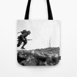 Battle Of Okinawa Painting Tote Bag