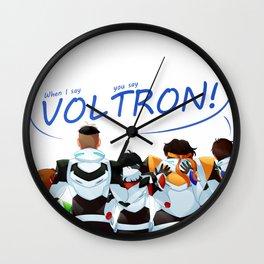 Team Voltron! Wall Clock