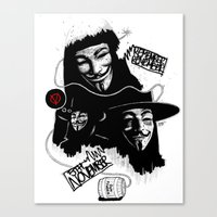 vendetta Canvas Prints featuring Vendetta by Facey Artist