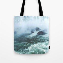 From below where all the water falls, Niagara 03 Tote Bag