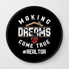 #Realtor Wall Clock