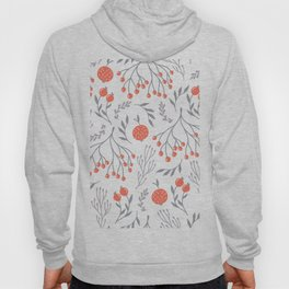 Red Berry Floral Hoody