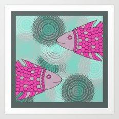 Indian Fish Art Print