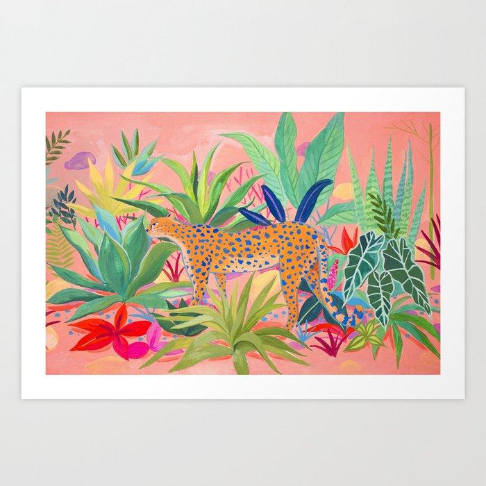 Leopard in Succulent Garden Kunstdrucke