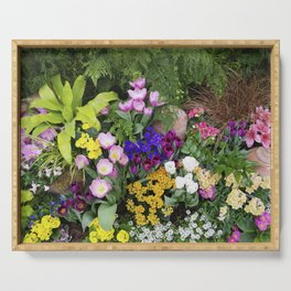 Floral Spectacular - Spring Flower Show Serving Tray
