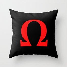 Ω omega Throw Pillow