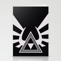 triforce Stationery Cards featuring triforce by Black