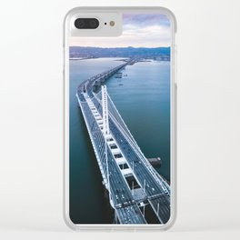 Oakland - San Francisco Bay Bridge Clear iPhone Case